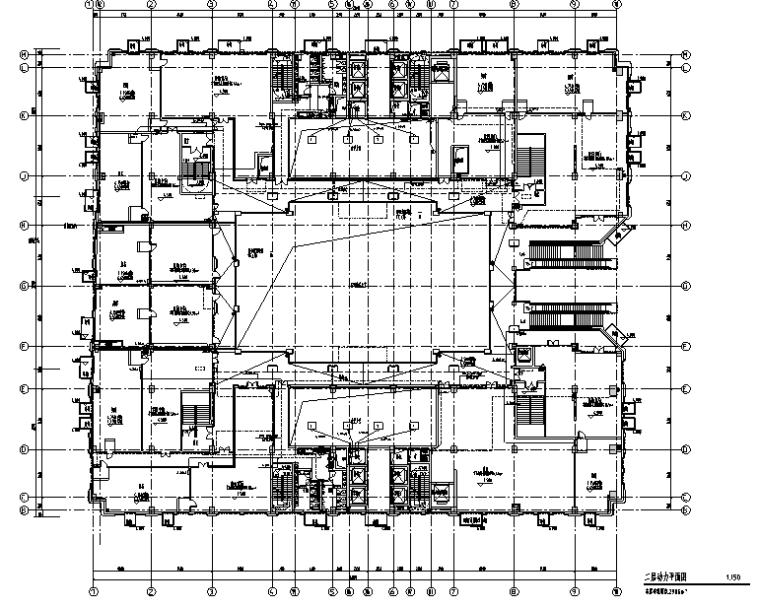 上海高层办公楼及商业裙房电气施工图