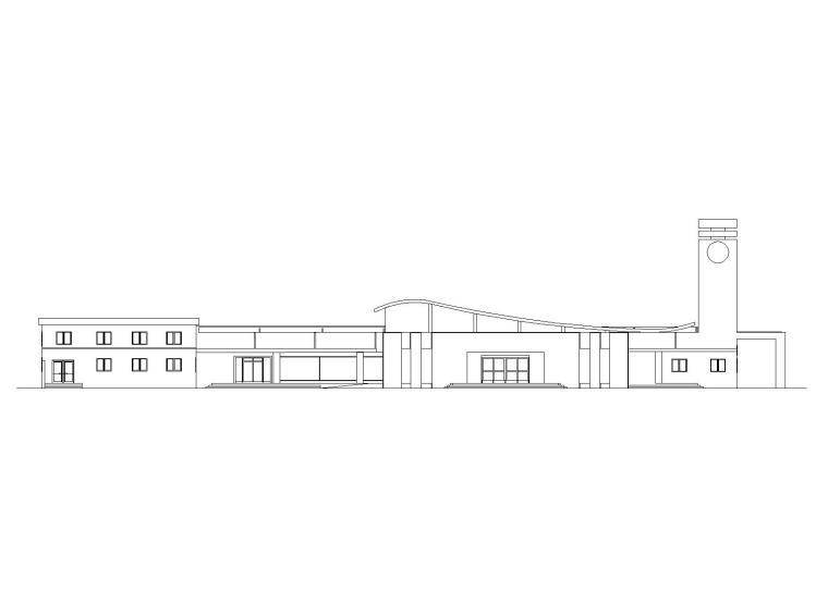 [学生作业1]客运站设计建筑施工图_CAD排版