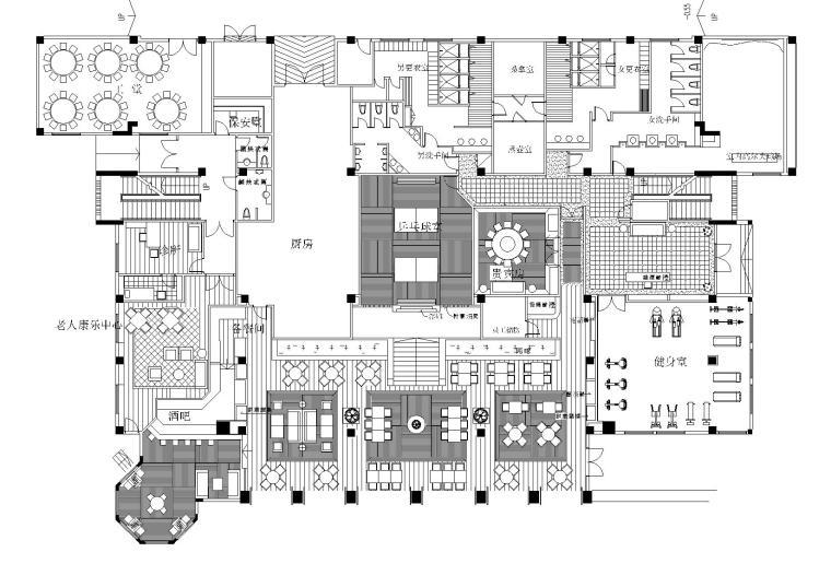 [海南]新世界花园小区会所施工图+实景拍摄
