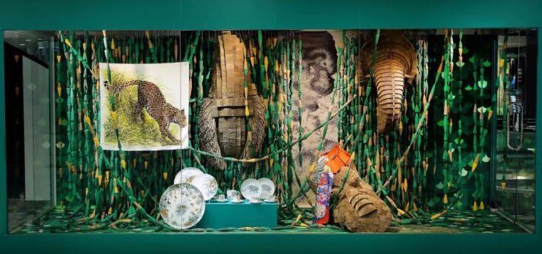 爱马仕的橱窗设计,手工制作的梦幻艺术空间
