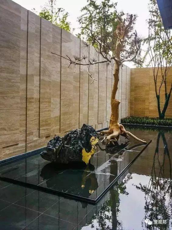 镜面水的做法——石材架空_16