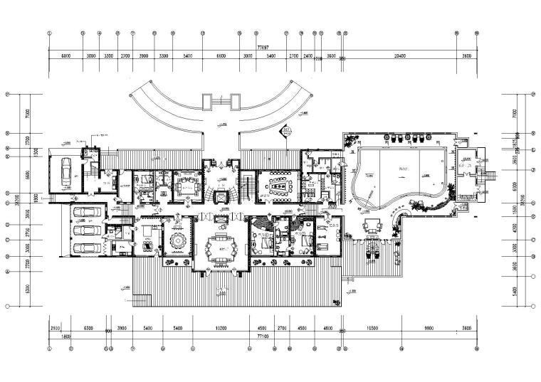 [河北]廊坊会所工程施工图+方案概念+效果