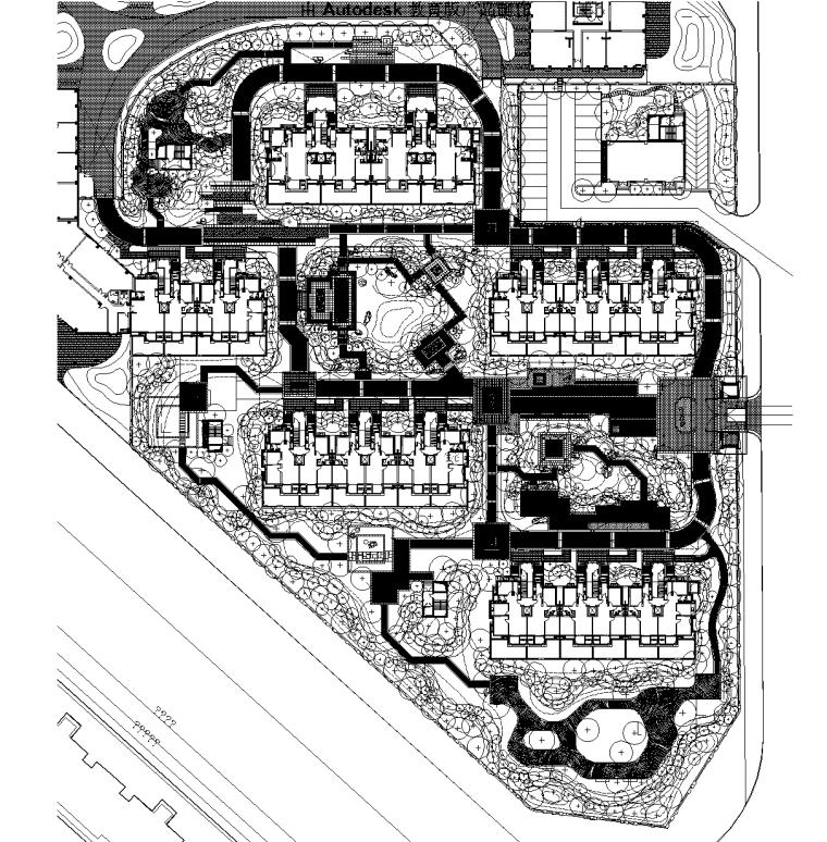 [北京]台湖泰禾1号居住公馆植物CAD施工图