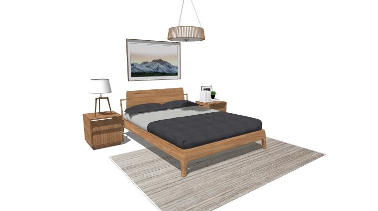 室内装饰常用床具SU模型设计(2)