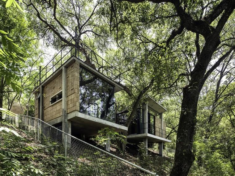 墨西哥树林里的房子