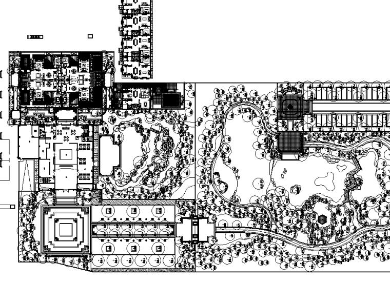 [北京]泰禾丽春湖示范区植物配置CAD施工图