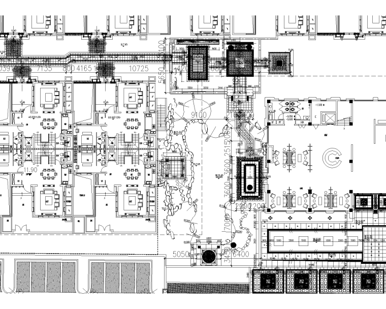 [广东]深圳中式泰禾院子植物配置CAD施工图