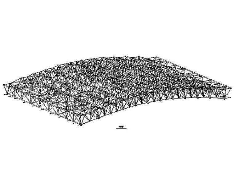 体育馆管桁架屋盖结构施工图2010