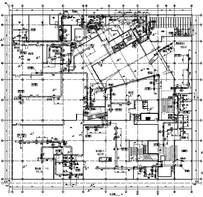 上海高层商业办公楼全套施工图