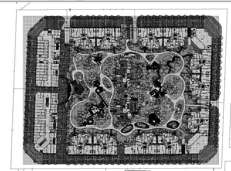[北京]北城天街住宅景观植物CAD施工图