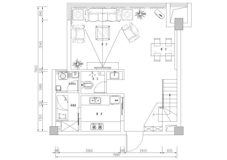 某二层欧式别墅装饰设计施工图+实景照片