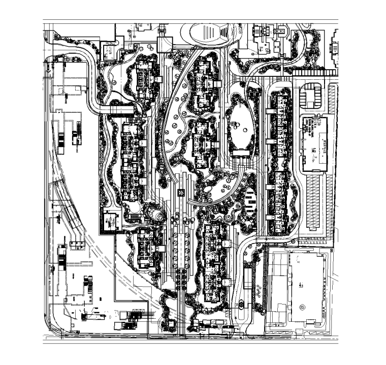 [上海]万科新古典居住区景观植物CAD施工图