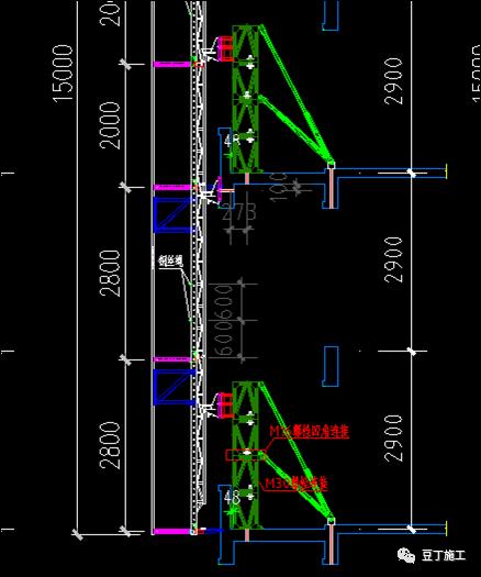 折叠式升降脚手架设计、安装及拆除工艺解析_12