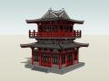 中式古塔建筑模型设计
