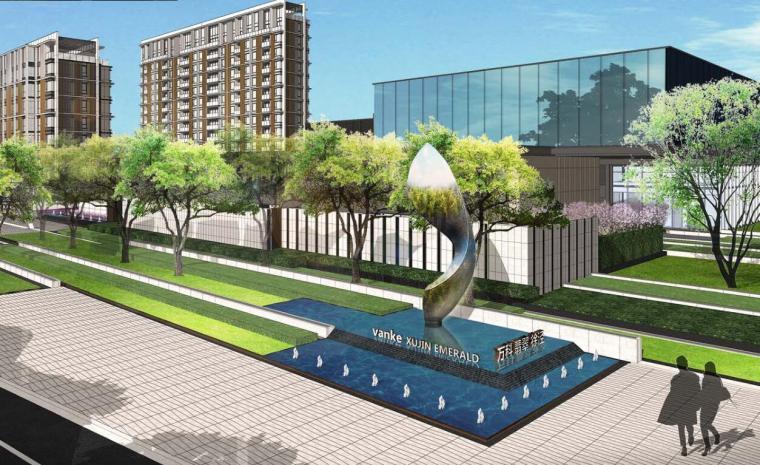[上海]万科展示区景观方案扩初设计文本