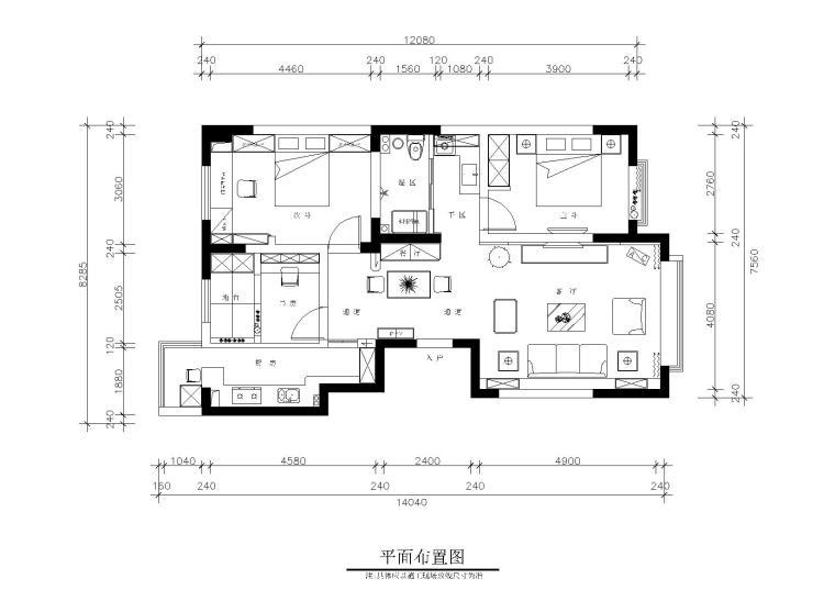 新疆五家渠休闲风格私人住宅施工图+效果图