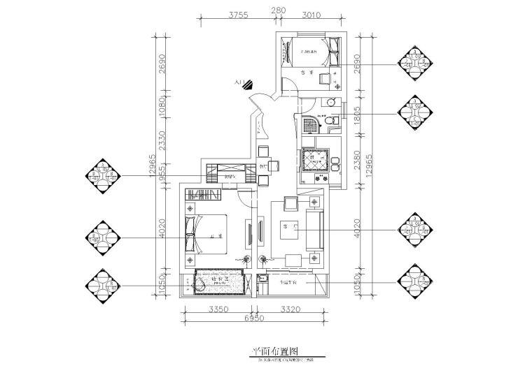 上海益豐路55弄93號201室施工圖+效果圖