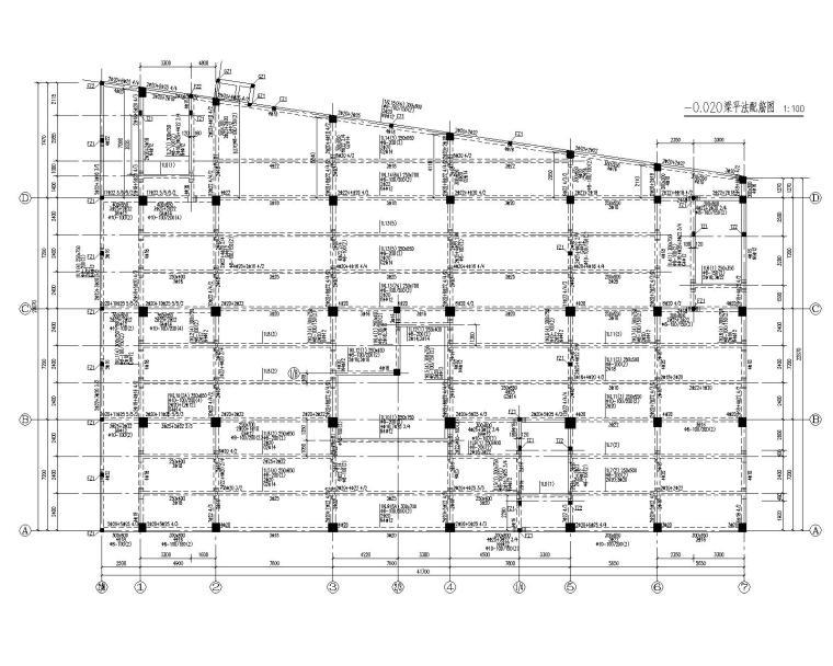 某5层商场混凝土结构施工图(CAD)