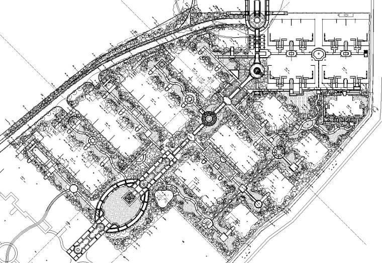 [河南]法式新古典住宅区植物CAD施工图