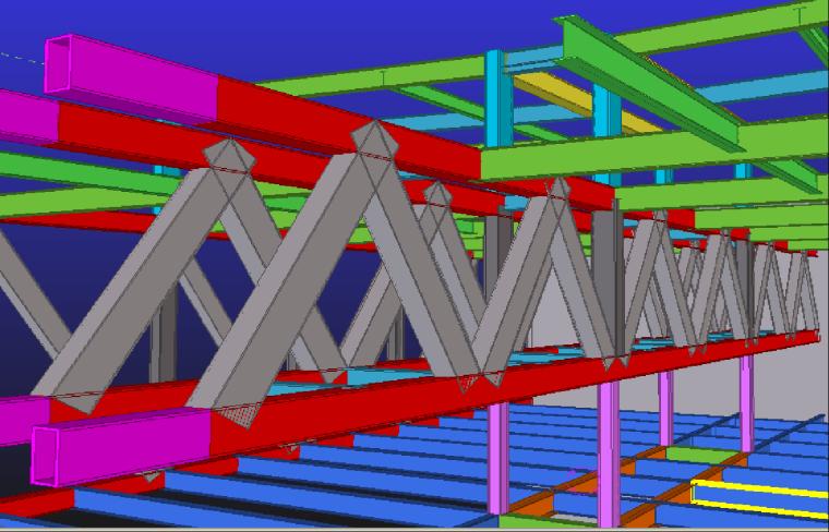 61典型(20层)桁架连廊结构示意图