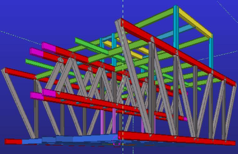 59典型(19层)桁架连廊结构示意图