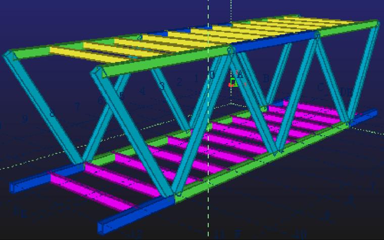 60典型(15层)桁架连廊结构示意图