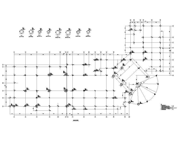 某二层酒店混凝土结构全套施工图(CAD)