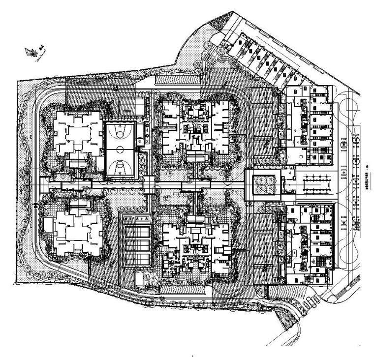 [重庆]西城住宅景观植物CAD施工图
