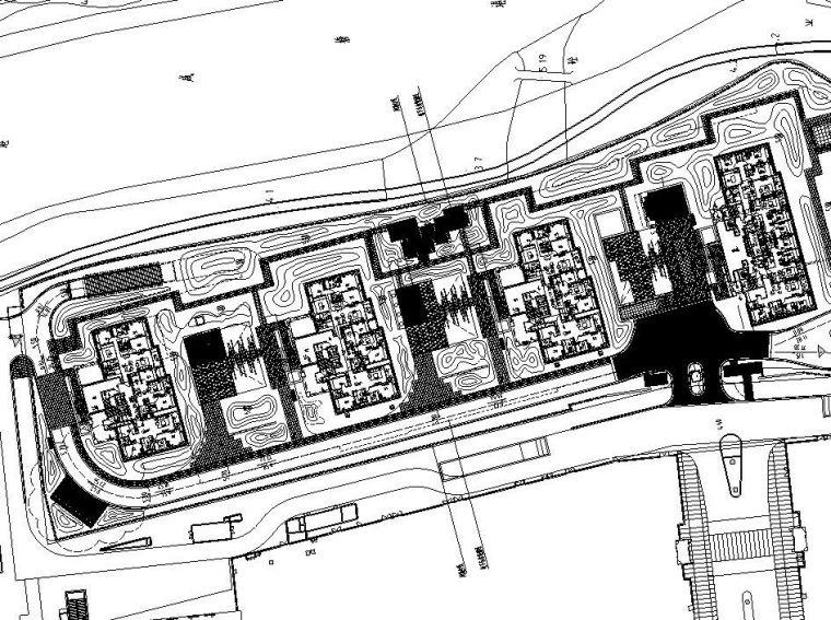 [上海]新古典地杰A地块景观绿化施工图设计