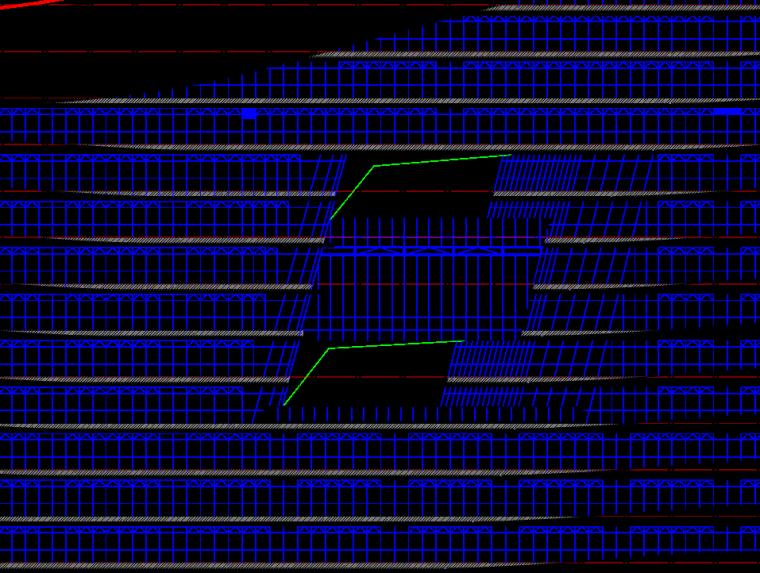 65 13层平台连廊位置示意