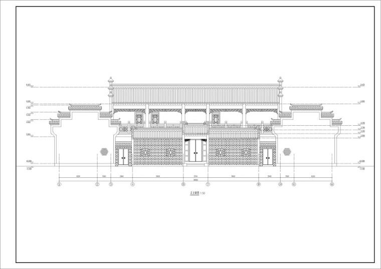 祠堂设计图分享   祠堂设计CAD图纸布局构思