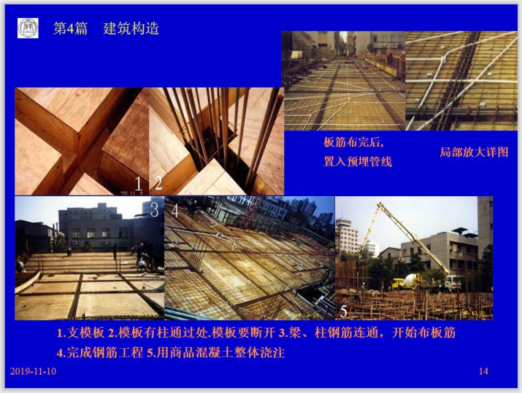 楼地层、屋盖及阳台、雨蓬的构造