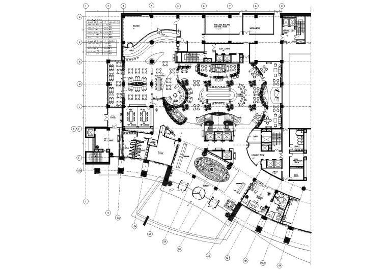 [天津]万丽泰达五星酒店装饰工程设计施工图