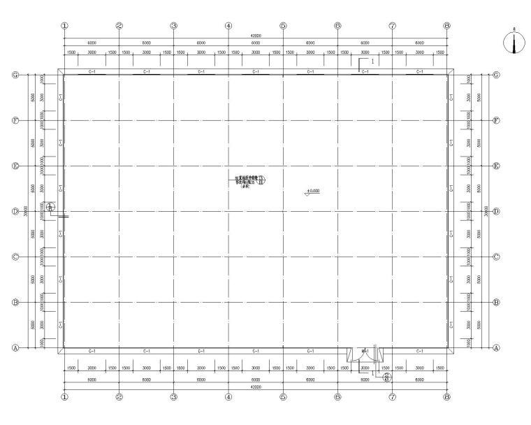 某30米双跨钢结构食堂施工图(CAD含建筑)