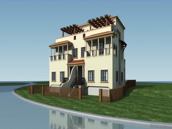 [河北省]农村双拼别墅首层主体结构工程