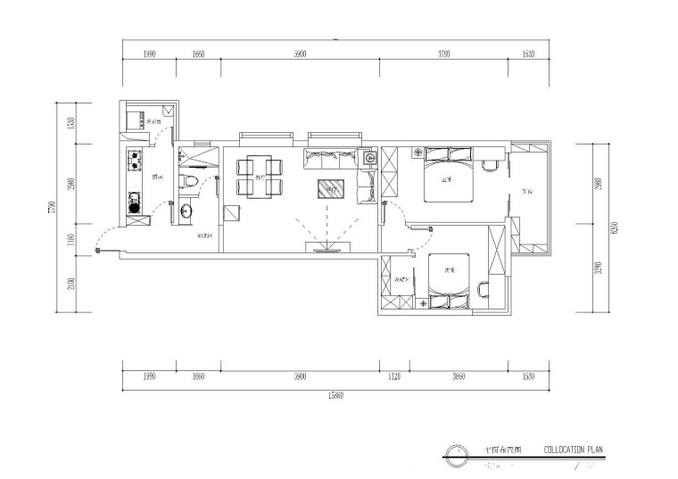 田园风私人住宅小屋施工图+效果图