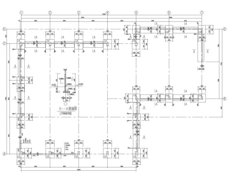 某27米L型平面钢结构厂房施工图(CAD)