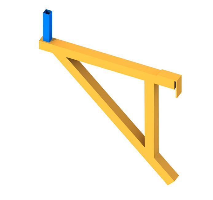 94三角支撑架三维示意图