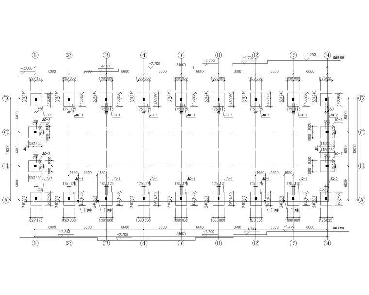 18米单跨钢结构厂房结构施工图(CAD)