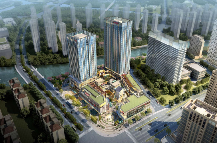 [浙江]温州现代风格商业综合体模型设计