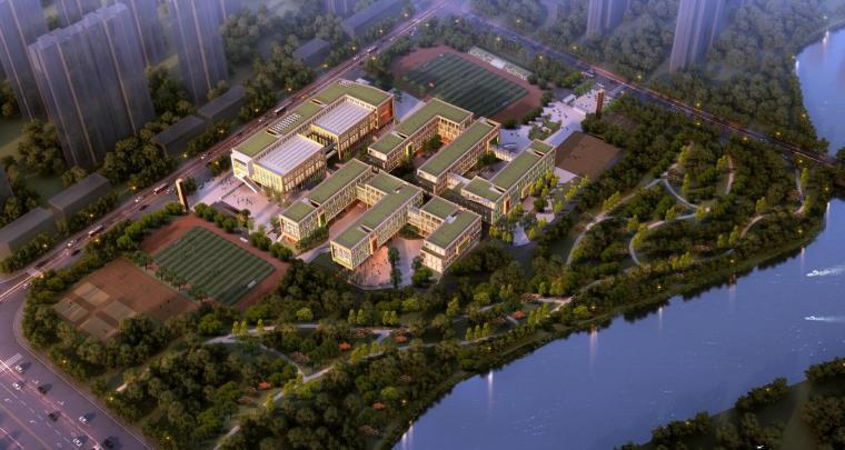 瑶海湾学校现代风格中小学模型设计