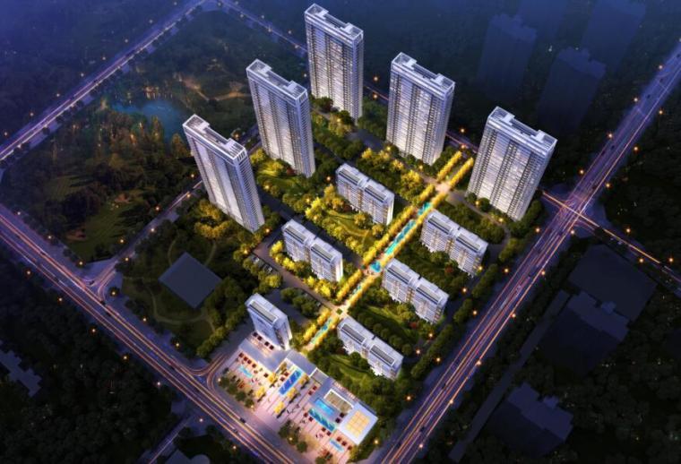 [湖北]新古典风格高层+洋房住宅建筑方案