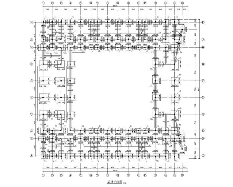 某四层混凝土教学楼结构施工图(CAD)