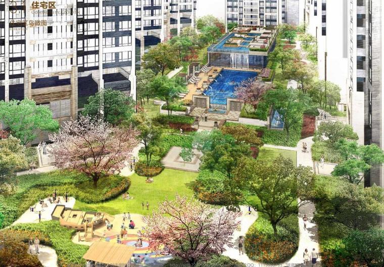 [广东]新古典住宅和商业区景观方案文本
