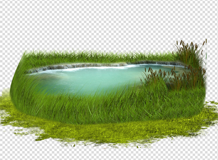 PS效果图设计水景素材