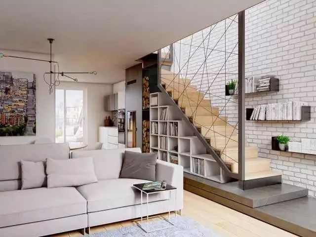 復式樓的屋主可以把樓梯這樣裝,多出一間房