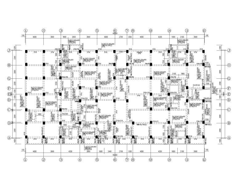 某七层住宅框架结构施工图(CAD)