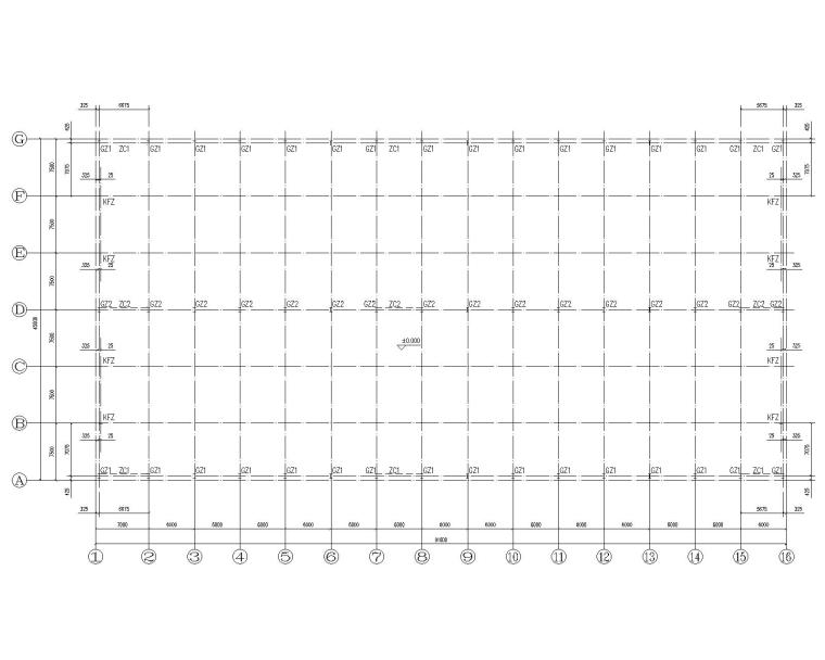 某45米双跨钢结构库房结构施工图(CAD)