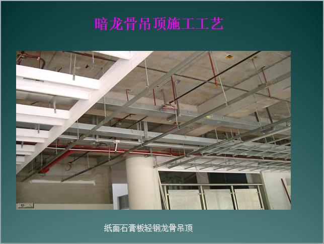 暗龙骨吊顶工程施工工艺(PPT格式)