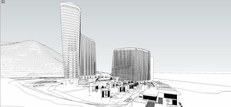 现代风格酒店建筑模型设计